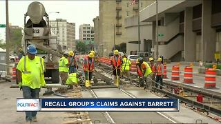 PolitFact Wisconsin: Mayor Barrett recall group on the streetcar - Video