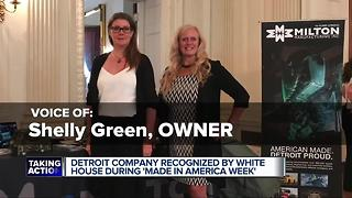 Detroit business honored by President Trump - Video