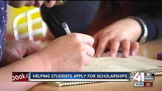 Helping students apply for scholarships