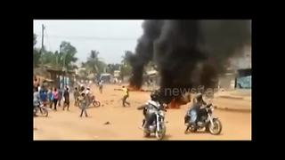 Togolese forces clash with protesters - Video