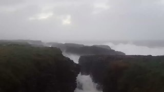 Storm Brian Batters Hook Head on South Irish Coast - Video