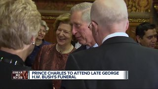 Prince Charles to attend George H.W. Bush's funeral