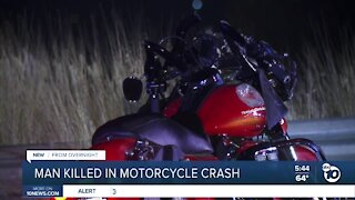 Man killed in motorcycle crash