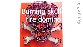 Burning skull fire domino - Video