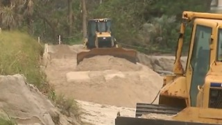 Emergency work being done at Bathtub Beach - Video