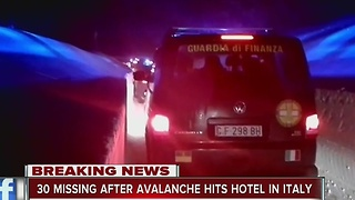 30 missing after avalanche hits hotel in Italy - Video