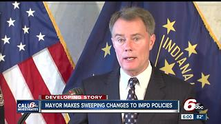 Mayor makes sweeping changes to IMPD - Video