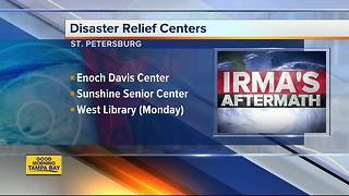 Disaster Relief Centers open up throughout Tampa Bay Area - Video