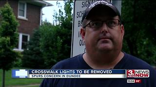 Signs say Dundee crosswalk lights to be removed - Video