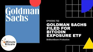 Goldman Sachs Filed For Bitcoin Exposure ETF