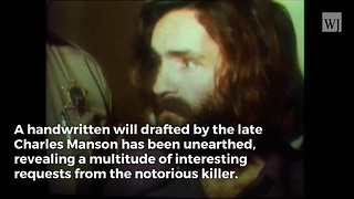 Charles Manson's Will Unearthed - Video