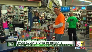 Luckiest lottery stores in the Tri-State