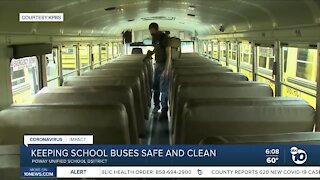 Keeping school buses safe and clean