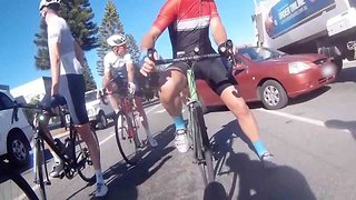 Lmost Ploughs Into Cyclists