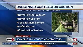 State CFO warns to check a contractor before you hire - Video