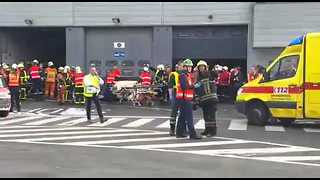 Emergency Responders Treat Victims at Zaventem Airport - Video