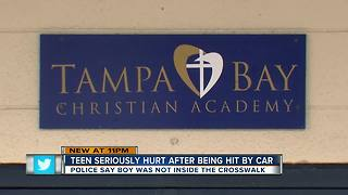 Teenager hit by car near Tampa school - Video
