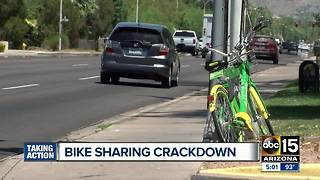 Tempe cracking down on bike sharing violations - Video