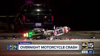 Motorcycle wrecks in Glendale overnight