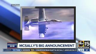 McSally launches Senate campaign in heated Arizona contest - Video