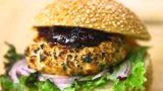 Alaska Sockeye Salmon Burgers And Rhubarb Chutney - Video