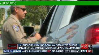 Authorities cracking down on distracted driving in April