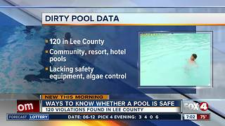 More than 100 public pools didn't pass inspection in Lee County - Video