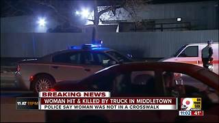Woman struck and killed by truck in Middletown - Video