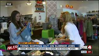 Teens are no longer looking for summer emplotment - Video