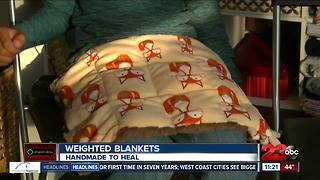 Weighted blankets, lap pads helping people with autism, anxiety and attention disorders - Video