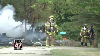 Video shows structure fire in Bath Township - Video