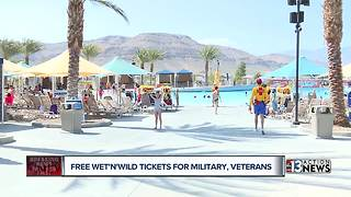 Free ticket for military, veterans
