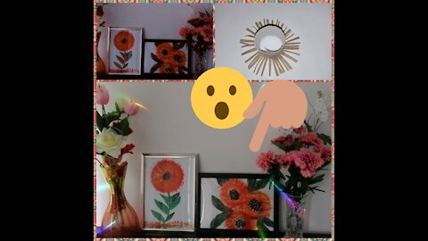 Flowers with toilet paper rolls