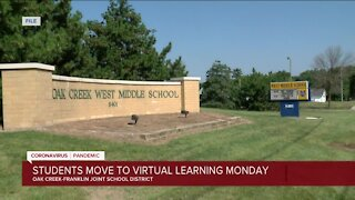 Oak Creek-Franklin School District moves all classes online