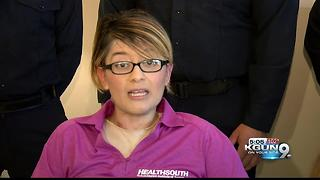 Woman meets Tucson Firefighters who saved her life - Video