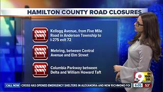 Flood-related road closures could affect your commute - Video