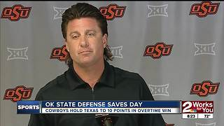 Oklahoma State Defense saves the day in 13-10 overtime defeat of Texas - Video