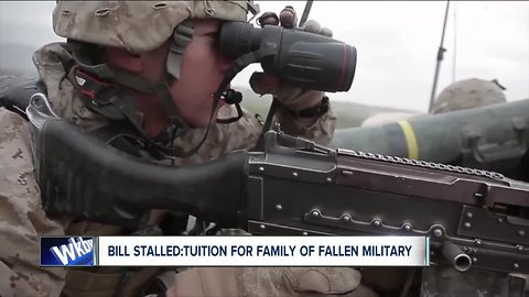 Bill stalled: would provide scholarships for family's of fallen military