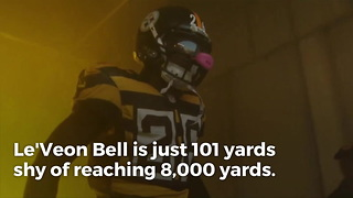 Le'Veon Bell On Pace Break 8,000 Yards In Fewest Games - Video