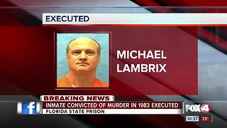 Inmate executed for murder - Video