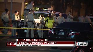 Three dead, seven injured in car crash - Video
