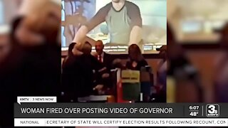 Woman fired after posting video of governor