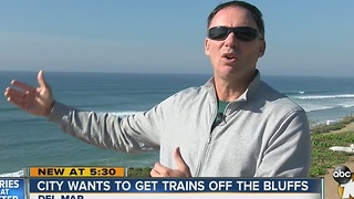City wants to get trains off the bluffs - Video