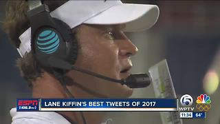 Lane Kiffin's Greatest Twitter Moments of 2017 - Video