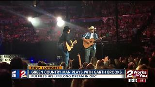 Green Country man plays with Garth Brooks - Video