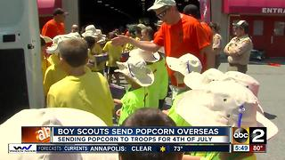 Baltimore Boy Scouts team up with DHL to ship popcorn to troops