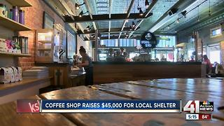 Coffee shop donates $45,000 to domestic violence agency - Video