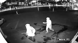 Inglorious Burglars Caught Red-Handed On Security Camera