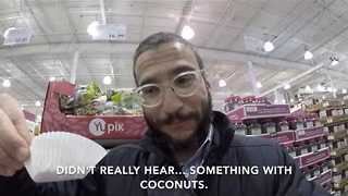 Man Delights his Baby With a Breakfast Date at Costco - Video