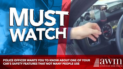 Police Officer Wants You To Know About One Of Your Car's Safety Features That Not Many People Use
